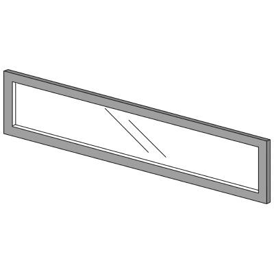 PLUS(プラス)オフィス家具 LFパネル ガラスパネル(透明)D10 H300 W(幅)1200 D(奥行き)10 H(高さ)300