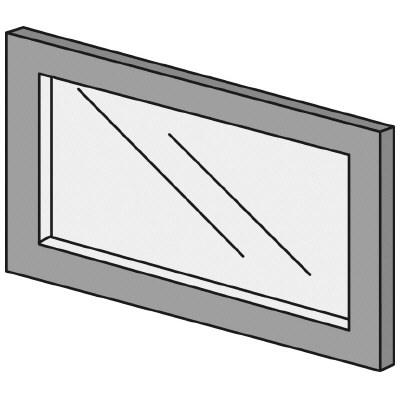 PLUS(プラス)オフィス家具 LFパネル ガラスパネル(くもり)D10 H300 W(幅)450 D(奥行き)10 H(高さ)300