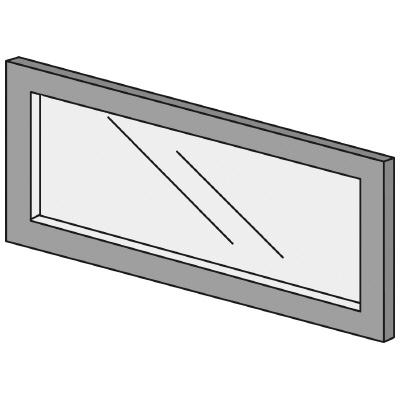 PLUS(プラス)オフィス家具 LFパネル ガラスパネル(くもり)D10 H300 W(幅)600 D(奥行き)10 H(高さ)300