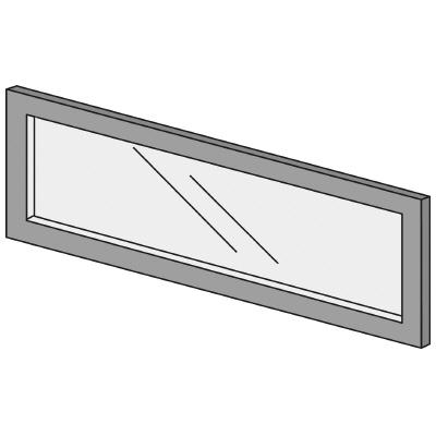 PLUS(プラス)オフィス家具 LFパネル ガラスパネル(くもり)D10 H300 W(幅)800 D(奥行き)10 H(高さ)300