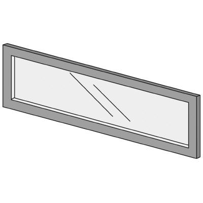 PLUS(プラス)オフィス家具 LFパネル ガラスパネル(くもり)D10 H300 W(幅)900 D(奥行き)10 H(高さ)300