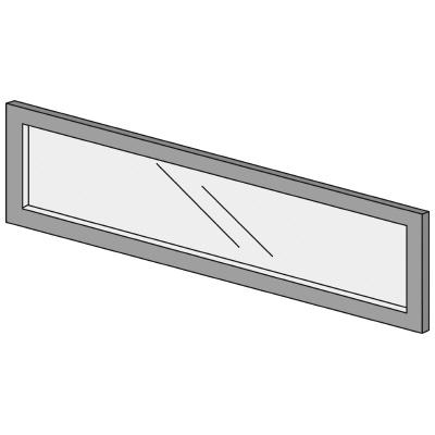 PLUS(プラス)オフィス家具 LFパネル ガラスパネル(くもり)D10 H300 W(幅)1000 D(奥行き)10 H(高さ)300