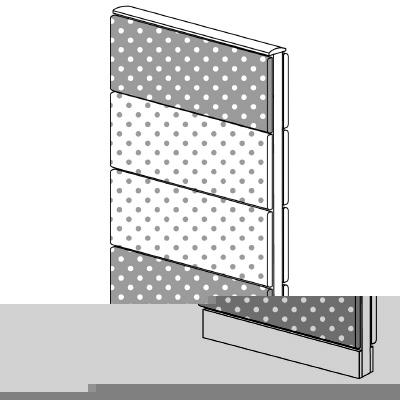 PLUS(プラス)オフィス家具 LFパネル(PET再生クロス) 全面クロスパネルセット パネル4段 H1325 W(幅)600 D(奥行き)60 H(高さ)1325