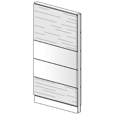 PLUS(プラス)オフィス家具 LFパネル 塗装・木質コンビパネルセット パネル4段 H1625 W(幅)700 D(奥行き)60 H(高さ)1625