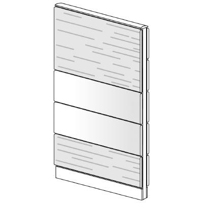 PLUS(プラス)オフィス家具 LFパネル 塗装・木質コンビパネルセット パネル4段 H1625 W(幅)800 D(奥行き)60 H(高さ)1625