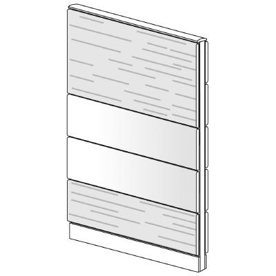 PLUS(プラス)オフィス家具 LFパネル 塗装・木質コンビパネルセット パネル4段 H1625 W(幅)900 D(奥行き)60 H(高さ)1625