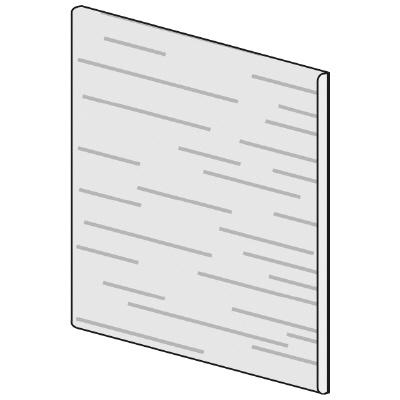 PLUS(プラス)オフィス家具 LFパネル(木質) H600 W(幅)450 D(奥行き)10 H(高さ)600