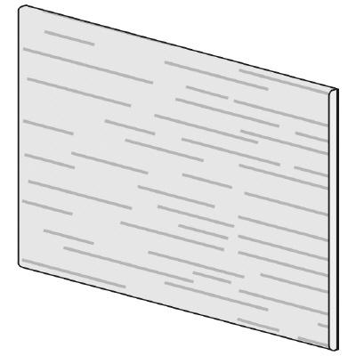PLUS(プラス)オフィス家具 LFパネル(木質) H600 W(幅)700 D(奥行き)10 H(高さ)600