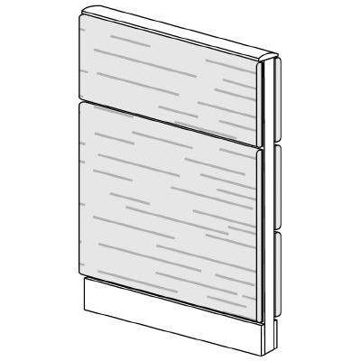 PLUS(プラス)オフィス家具 LFパネル 全面木質パネルセット パネル2段 H1025 W(幅)600 D(奥行き)60 H(高さ)1025