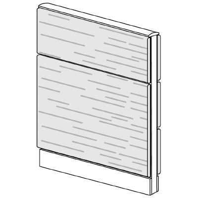 PLUS(プラス)オフィス家具 LFパネル 全面木質パネルセット パネル2段 H1025 W(幅)700 D(奥行き)60 H(高さ)1025