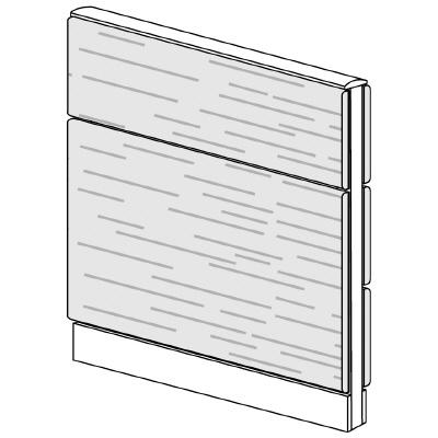 PLUS(プラス)オフィス家具 LFパネル 全面木質パネルセット パネル2段 H1025 W(幅)800 D(奥行き)60 H(高さ)1025