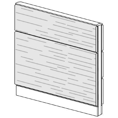 PLUS(プラス)オフィス家具 LFパネル 全面木質パネルセット パネル2段 H1025 W(幅)900 D(奥行き)60 H(高さ)1025