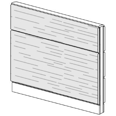 PLUS(プラス)オフィス家具 LFパネル 全面木質パネルセット パネル2段 H1025 W(幅)1000 D(奥行き)60 H(高さ)1025
