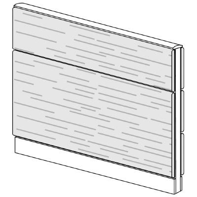PLUS(プラス)オフィス家具 LFパネル 全面木質パネルセット パネル2段 H1025 W(幅)1100 D(奥行き)60 H(高さ)1025