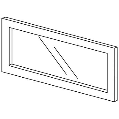 PLUS(プラス)オフィス家具 LFパネル(ガラス) H300 W(幅)600 D(奥行き)10 H(高さ)300