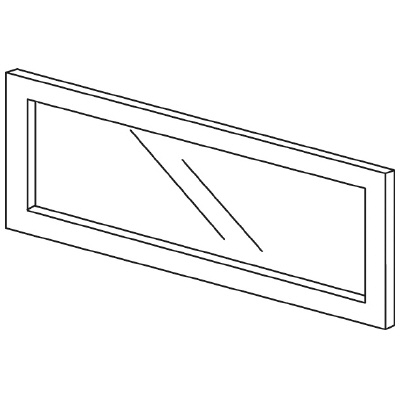 PLUS(プラス)オフィス家具 LFパネル(ガラス) H300 W(幅)700 D(奥行き)10 H(高さ)300