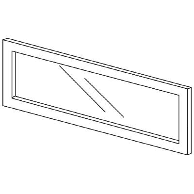 PLUS(プラス)オフィス家具 LFパネル(ガラス) H300 W(幅)800 D(奥行き)10 H(高さ)300