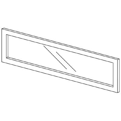 PLUS(プラス)オフィス家具 LFパネル(ガラス) H300 W(幅)1000 D(奥行き)10 H(高さ)300