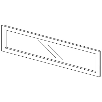 PLUS(プラス)オフィス家具 LFパネル(ガラス) H300 W(幅)1100 D(奥行き)10 H(高さ)300
