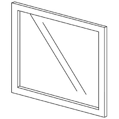 PLUS(プラス)オフィス家具 LFパネル(ガラス) H600 W(幅)600 D(奥行き)10 H(高さ)600