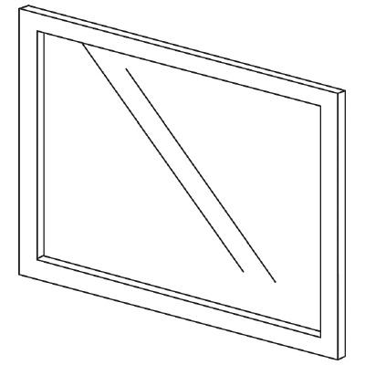PLUS(プラス)オフィス家具 LFパネル(ガラス) H600 W(幅)700 D(奥行き)10 H(高さ)600