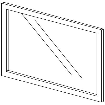 PLUS(プラス)オフィス家具 LFパネル(ガラス) H600 W(幅)800 D(奥行き)10 H(高さ)600