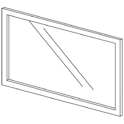 PLUS(プラス)オフィス家具 LFパネル(ガラス) H600 W(幅)900 D(奥行き)10 H(高さ)600