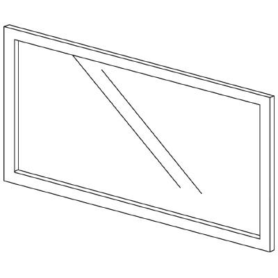PLUS(プラス)オフィス家具 LFパネル(ガラス) H600 W(幅)1000 D(奥行き)10 H(高さ)600