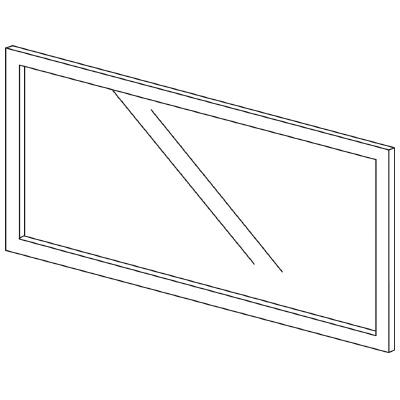 PLUS(プラス)オフィス家具 LFパネル(ガラス) H600 W(幅)1100 D(奥行き)10 H(高さ)600