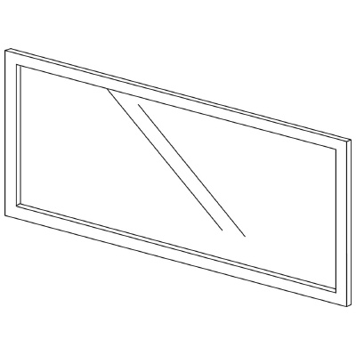 PLUS(プラス)オフィス家具 LFパネル(ガラス) H600 W(幅)1200 D(奥行き)10 H(高さ)600