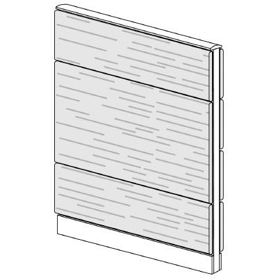 PLUS(プラス)オフィス家具 LFパネル 全面木質パネルセット パネル3段 H1325 W(幅)900 D(奥行き)60 H(高さ)1325