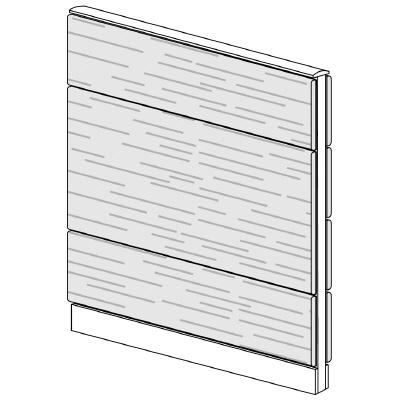 PLUS(プラス)オフィス家具 LFパネル 全面木質パネルセット パネル3段 H1325 W(幅)1000 D(奥行き)60 H(高さ)1325