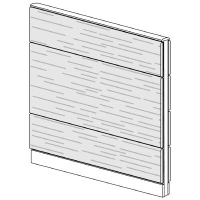 PLUS(プラス)オフィス家具 LFパネル 全面木質パネルセット パネル3段 H1325 W(幅)1100 D(奥行き)60 H(高さ)1325