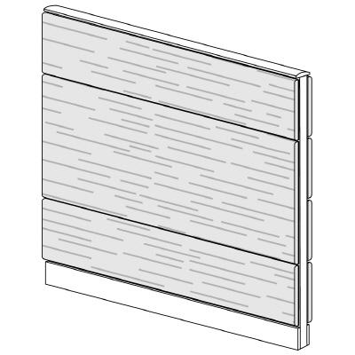 PLUS(プラス)オフィス家具 LFパネル 全面木質パネルセット パネル3段 H1325 W(幅)1200 D(奥行き)60 H(高さ)1325