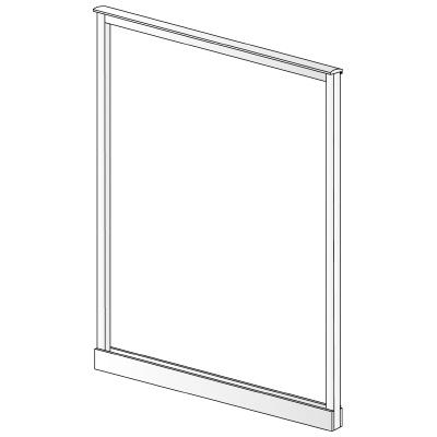 PLUS(プラス)オフィス家具 LFパネル(フレーム) H1625 W(幅)1100 D(奥行き)10 H(高さ)1625