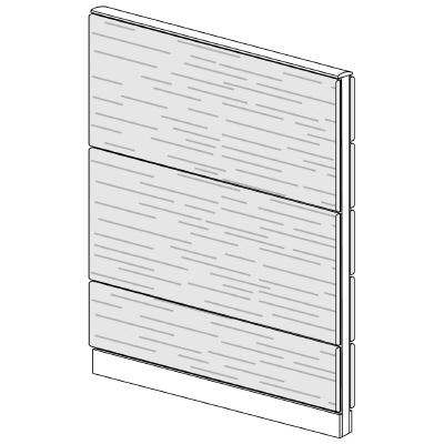 PLUS(プラス)オフィス家具 LFパネル 全面木質パネルセット パネル3段 H1625 W(幅)1100 D(奥行き)60 H(高さ)1625
