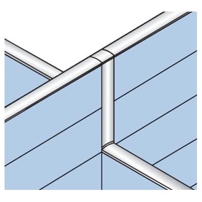 PLUS(プラス)オフィス家具 LFパネル 段差連結部材(2段階段差用) D60十字用×2 W(幅) D(奥行き)60 H(高さ)