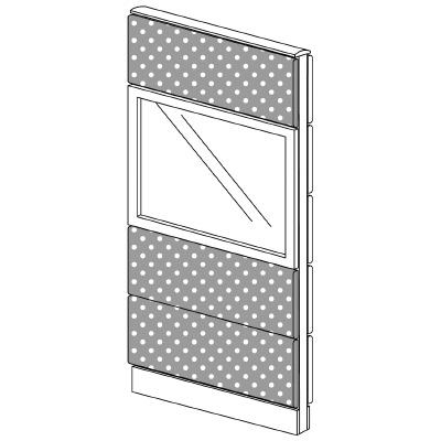 PLUS(プラス)オフィス家具 LFパネル(光触媒クロス) クロス・ガラスコンビパネルセット パネル4段 H1625 W(幅)700 D(奥行き)60 H(高さ)1625