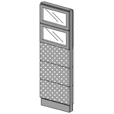 PLUS(プラス)オフィス家具LFパネル(光触媒クロス)クロス・ガラスコンビパネルセットパネル5段H1625W(幅)450D(奥行き)60H(高さ)1625