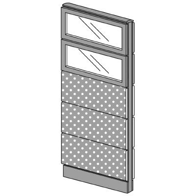 PLUS(プラス)オフィス家具 LFパネル(光触媒クロス) クロス・ガラスコンビパネルセット パネル5段 H1625 W(幅)600 D(奥行き)60 H(高さ)1625