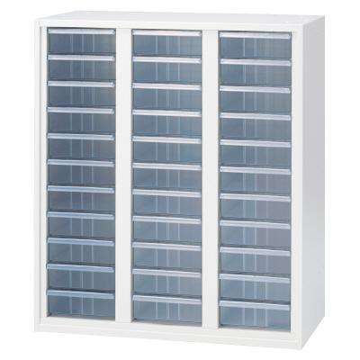 PLUS(プラス)オフィス家具 LX-5 クリアケースキャビネット 深型3列 標準型 W(幅)900 D(奥行き)450 H(高さ)1050