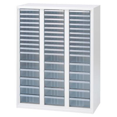 PLUS(プラス)オフィス家具 LX-5 クリアケースキャビネット コンビ3列 A4対応型 W(幅)800 D(奥行き)450 H(高さ)1050