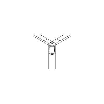 PLUS(プラス)オフィス家具 XF PANEL フリージョイントポール H1120用 W(幅) D(奥行き) H(高さ)