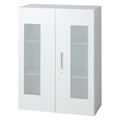 PLUS(プラス)オフィス家具 L6 ガラス両開き保管庫 W(幅)800 D(奥行き)450 H(高さ)1050