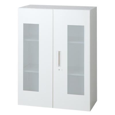 PLUS(プラス)オフィス家具 L6 ガラス両開き保管庫 W(幅)800 D(奥行き)400 H(高さ)1050