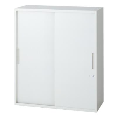 PLUS(プラス)オフィス家具 L6 2枚引違い保管庫 W(幅)900 D(奥行き)500 H(高さ)1050