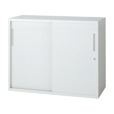 PLUS(プラス)オフィス家具 L6 2枚引違い保管庫 W(幅)900 D(奥行き)450 H(高さ)720