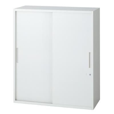 PLUS(プラス)オフィス家具 L6 2枚引違い保管庫 W(幅)900 D(奥行き)450 H(高さ)1050