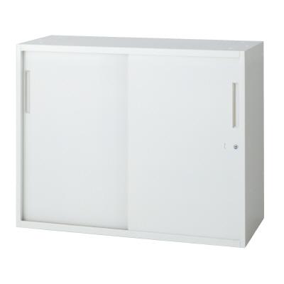 PLUS(プラス)オフィス家具 L6 2枚引違い保管庫 W(幅)900 D(奥行き)400 H(高さ)720