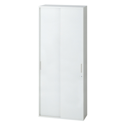 PLUS(プラス)オフィス家具 L6 2枚引違い保管庫 W(幅)900 D(奥行き)400 H(高さ)1770